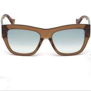 Balenciaga Sunglasses brown smoke mirror wayfarer